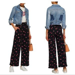 Rebecca Taylor Floriana Floral wise-leg pants